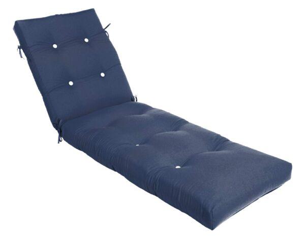 74 x 22.5 Button Tufted Chaise Cushion Chaise Cushions