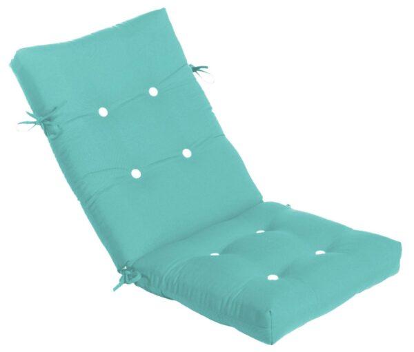 45 x 20 Button Tufted Mid-Back Cushion Hinged Cushions