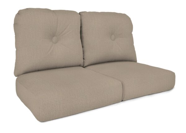North Cape Intl. Charleston (Cush 600LS) Style Loveseat Cushion Curved Seat Deep Seating