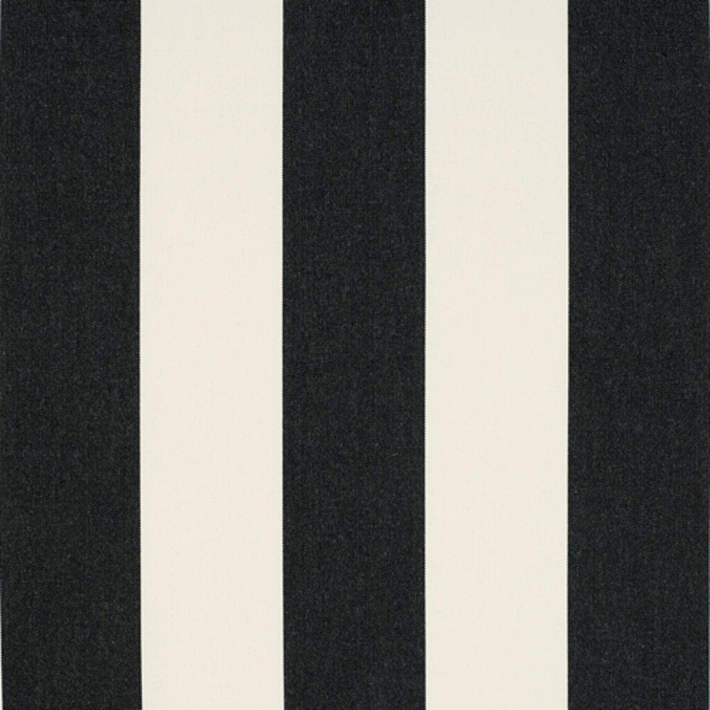 Bistro Stripe Black Fabrics