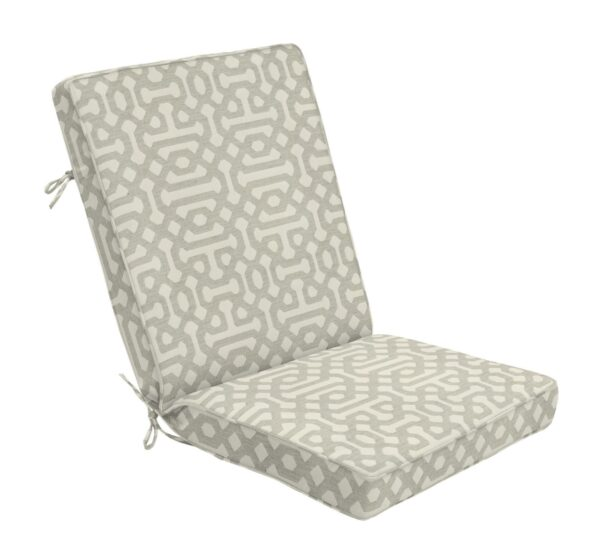 44 x 22 Hinged Cushion in Fretwork Pewter Clearance