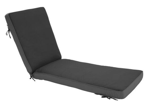 75 x 23 Chaise Cushion in Canvas Black Clearance
