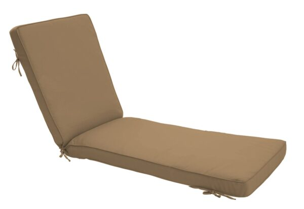 80 x 23 Chaise Cushion in Canvas Cocoa Clearance