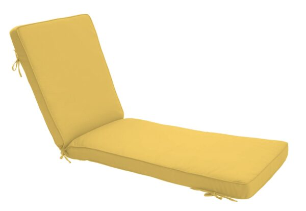 80 x 23 Chaise Cushion in Canvas Buttercup Clearance