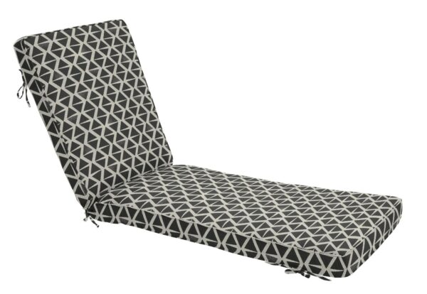 75 x 23 Chaise Cushion in Spectacle Tuxedo Clearance