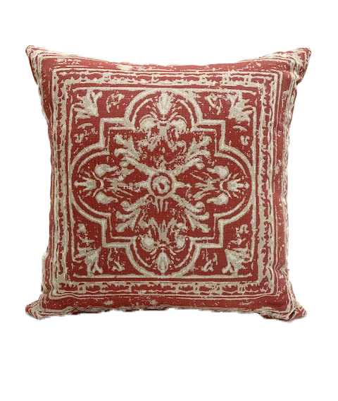 20 inch Throw Pillow in Medallion Poppy Clearance