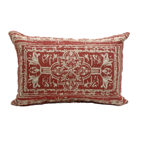 21 x 13 inch Throw Pillow in Medallion Poppy Clearance