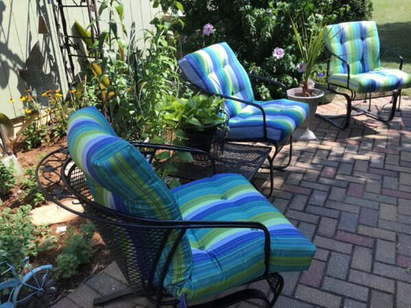 Striped Outdoor Cushions from Cushion Connection