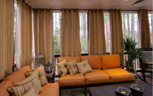 Privacy curtains for outdoor patio.
