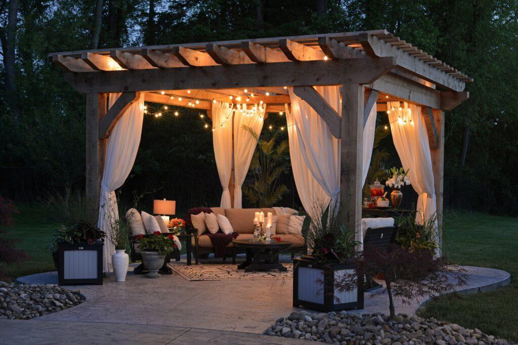 Backyard summer lifestyle.