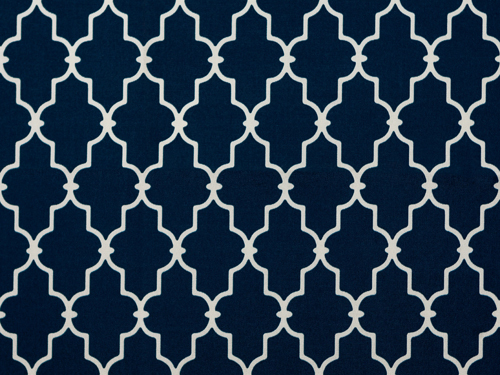 Garden Gate Navy Fabrics