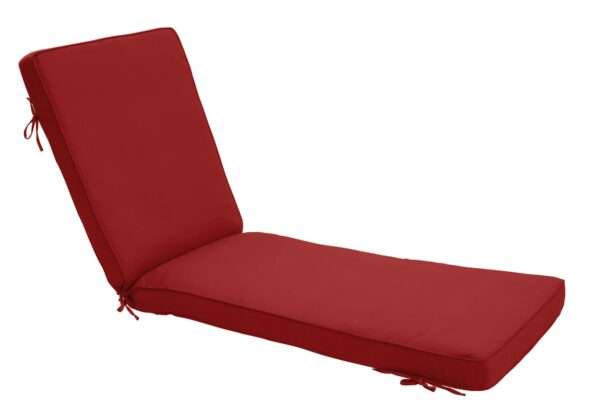 75 x 23 Chaise Cushion in Canvas Jockey Red Clearance