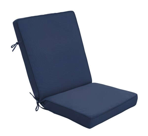 44 x 22 Hinged Cushion in Canvas Navy Clearance