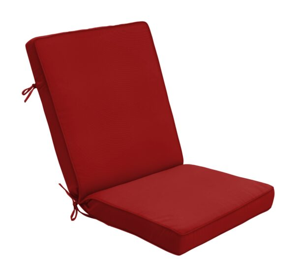 44 x 22 Hinged Cushion in Canvas Jockey Red Clearance
