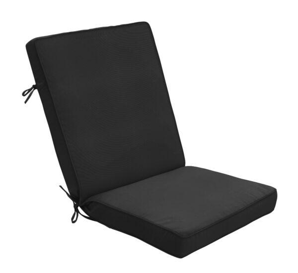 44 x 22 Hinged Cushion in Canvas Black Clearance